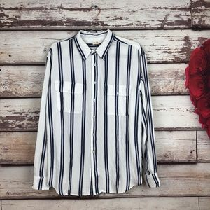 Brandy Melville White Striped Isabela Shirt John